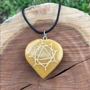 Jewelry - Solar Plexus (Third ) Chakra Heart Pendant